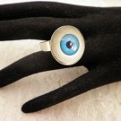 Blue Glass Eyeball Ring Choose Your Color