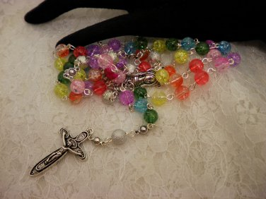 Crackled Beaded Rosaries