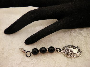 Silver Charmed Zipper Or Bag Pull