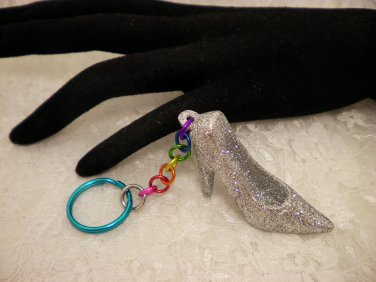 Sparkley Silver Shoe Charm