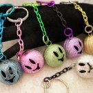 Smiley Face Bell Key Chains Choose Your Color