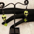 Green Skulled Earrings
