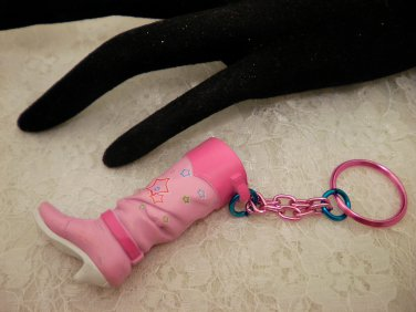 Pink Boot Key Chain