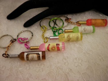 Cool Bottled Key Rings Choose Your Color or Style