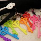 Colored Key Charm Key Rings Choose Your Color