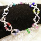 All Crystal Awareness Ribbon Bracelet