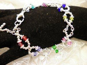 All Crystal Awareness Ribbon Bracelet