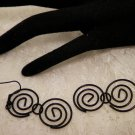 Black Swirled Earrings