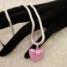 Pink Heart Pendant Necklace