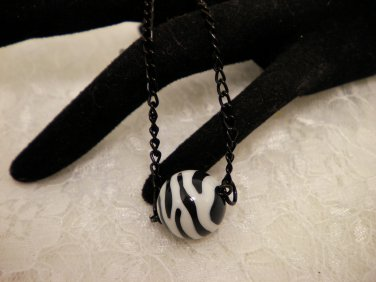 Zebra Balled Necklace