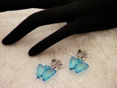 Blue Butterfly Post Earrings