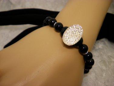 Black Beaded Sparkle Bracelet