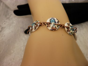 Copper Kitty Button Bracelet