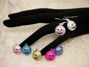 Smiley Face Bell Earrings