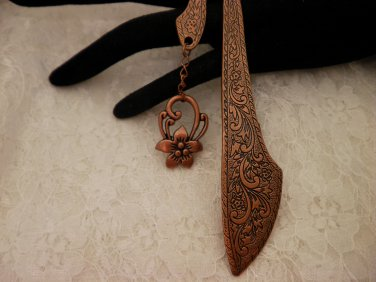Copper Charmed Book Mark