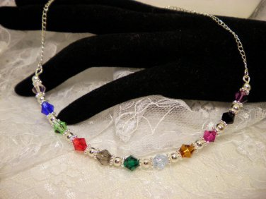 All Colored Awareness Crystal Necklace