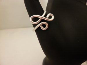 Silver Awareness Wire Ring