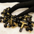 Black and Gold Rosaries