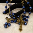 Blue Pearled and Bronze Rosaries