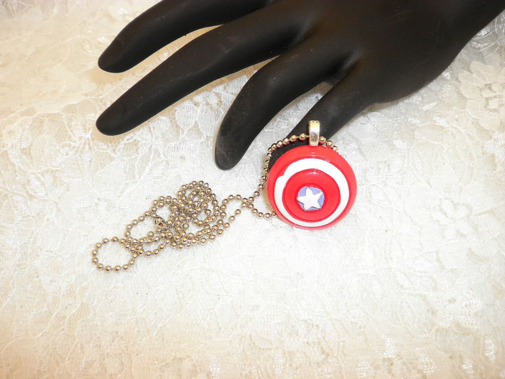 Captain America Pendant Necklace Choose Your Hero