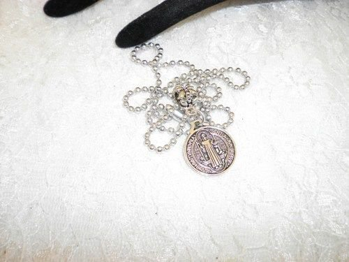 Religious Charm Saint Benedict Pendant Necklace ( Protection Saint)