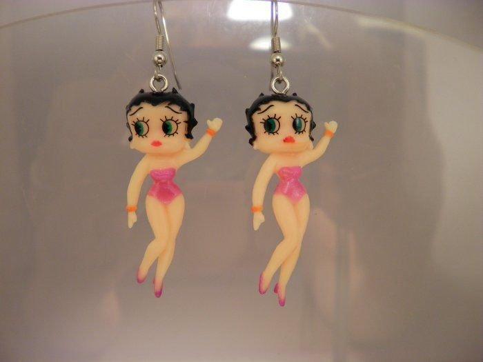 Betty Boop Charm Earrings