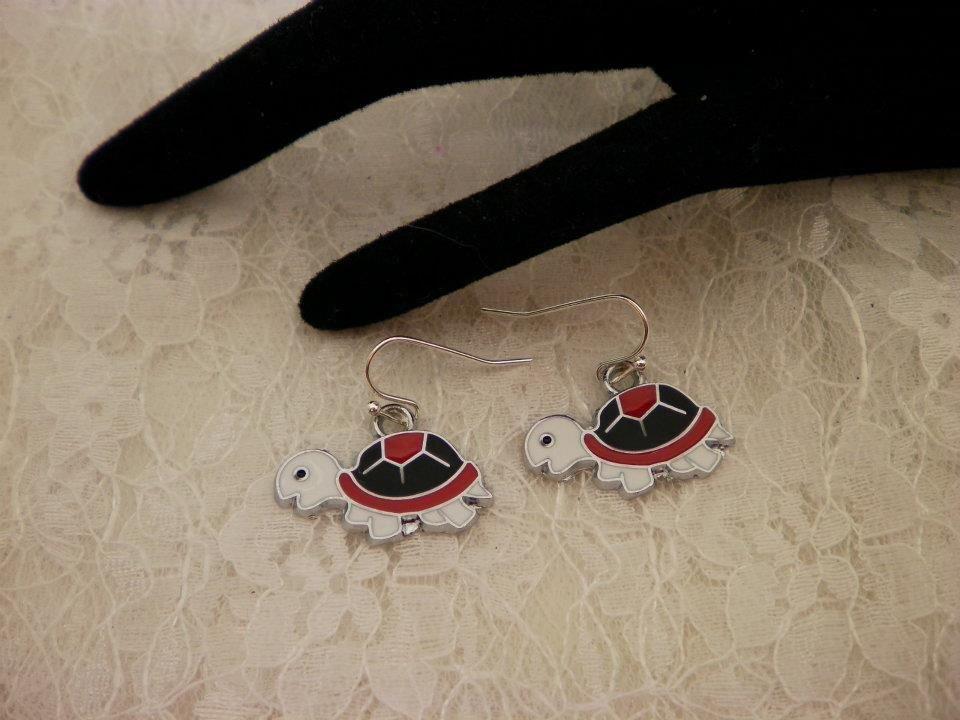 Cute Metal Turtle Charm Earrings