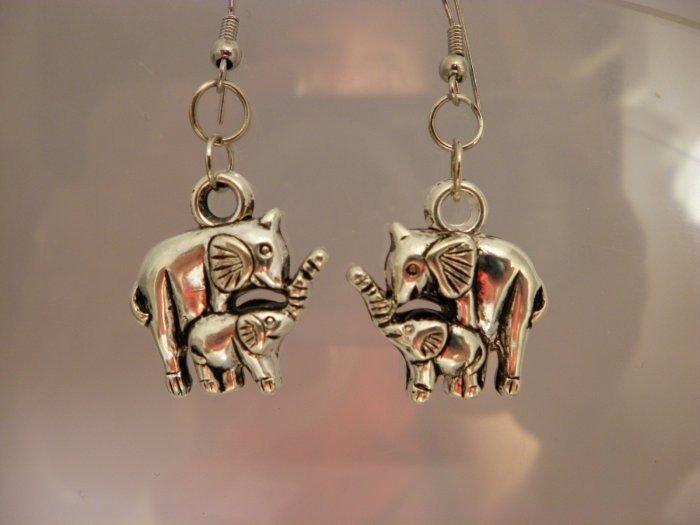 Alabama Elephant Earrings