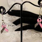 Awareness Breast Cancer Pink Ribbon Survivor Earrings