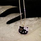 Hello Kitty Black Face Charm Necklace