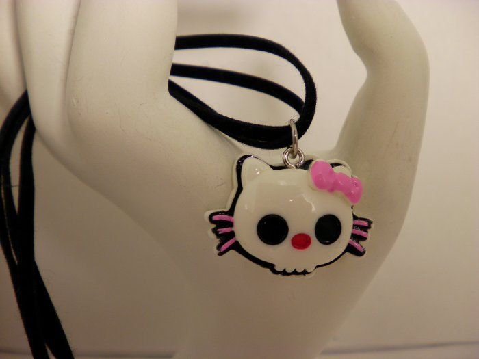 Hello Kitty Goth Charm Necklace