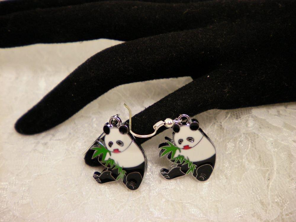 Cool Panda Charm Earrings