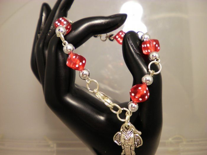 Alabama Diced Charmed Bracelet