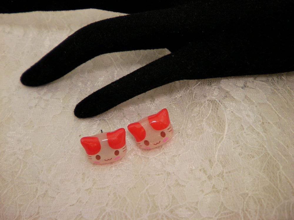 Hello Kitty Red Earred Post Earrings