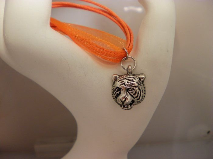 Auburn Tiger Charm Necklace