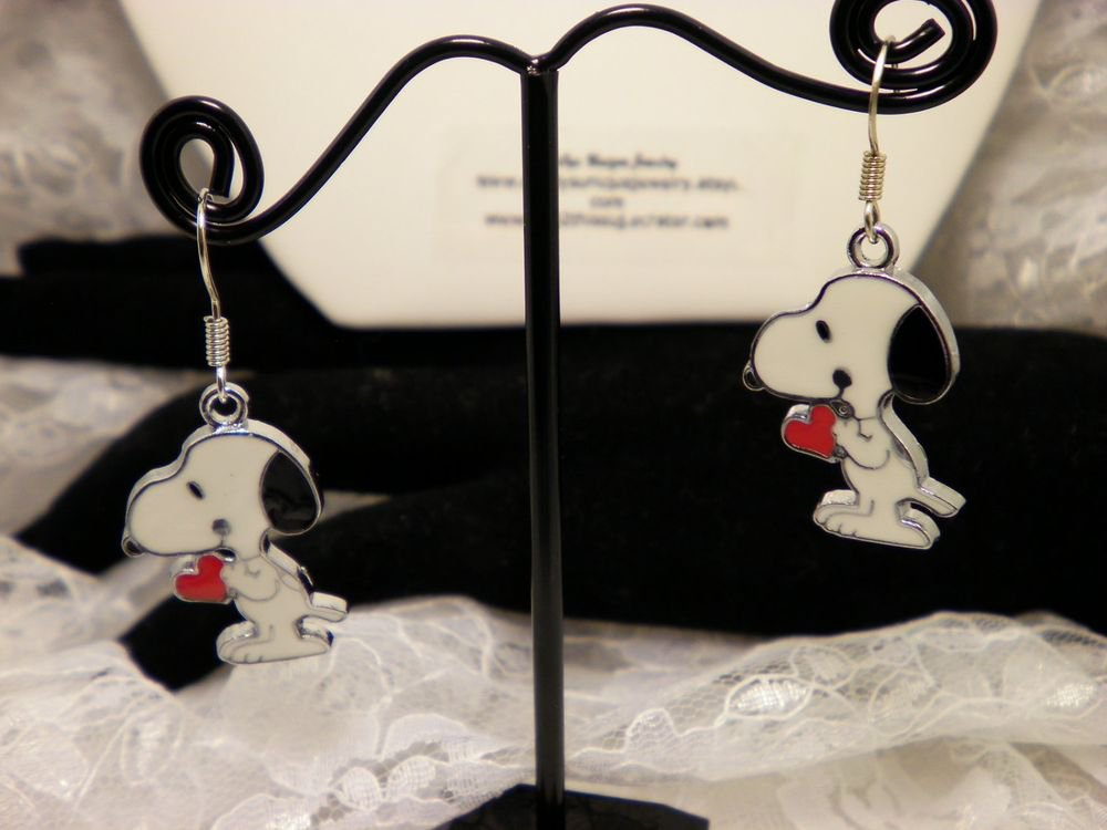 Snoopy Charm Earrings