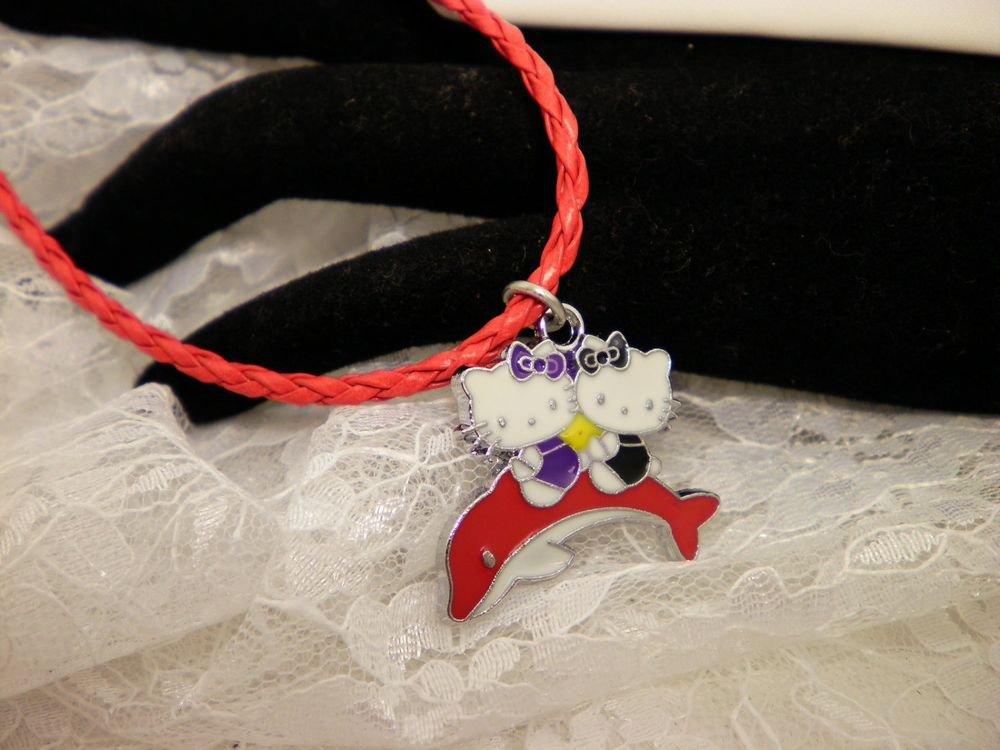Hello Kitty Dolphin Charm Necklace