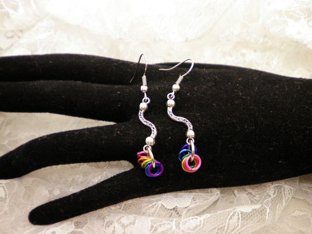 Silver Colored Rings Earrings