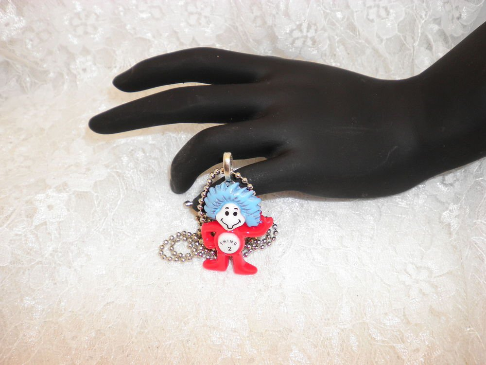 Dr. Suess Thing 2 Charm Pendant Necklace