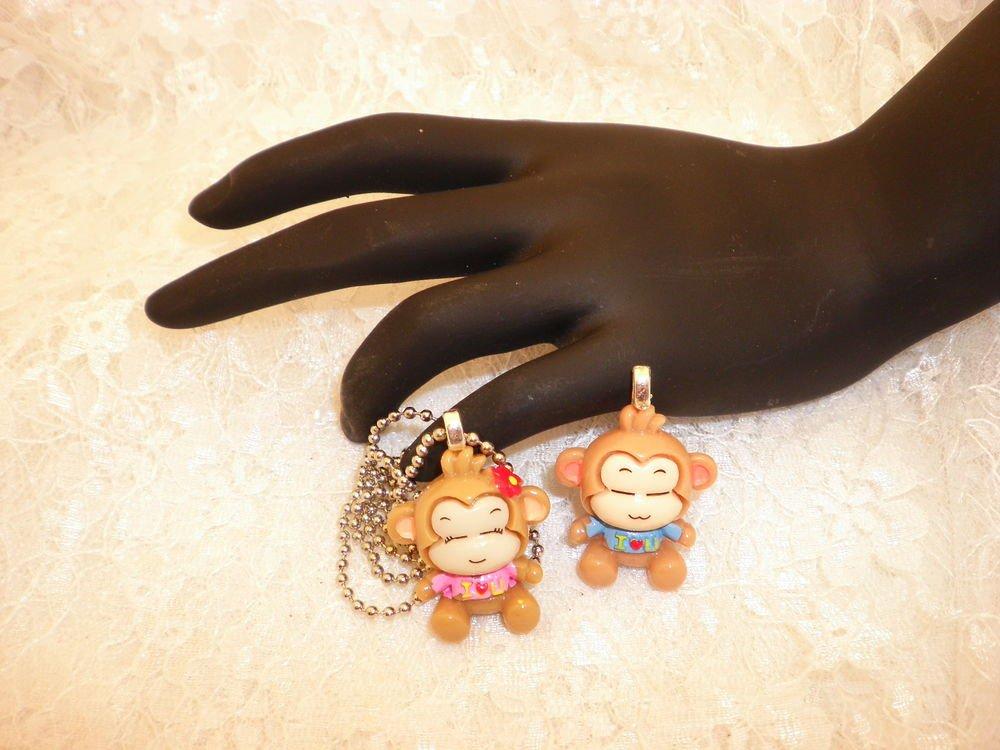 Boy Or Girl Monkey Charm Pendant