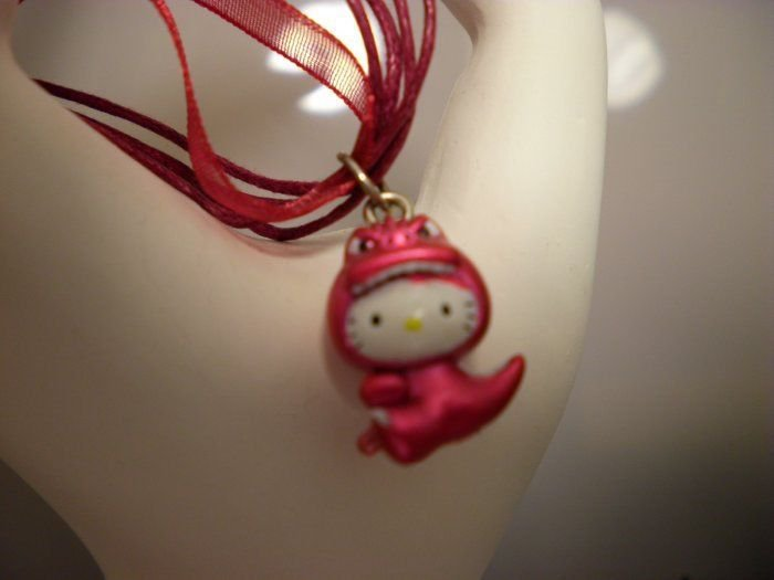Hello Kitty Red Dinosaur Necklace