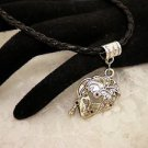 Silver Face Lady Charm Necklace