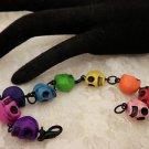 Gothic Colored Skull Beaded Handmade Linked Bracelet
