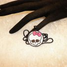 Monster High Black Framed Cabochon Pendant Necklace Kids Jewelry