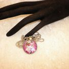 Girls Monster High Silver Framed Cabochon Pendant Necklace