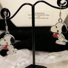 Charlie Brown Peanuts Movie Metal Snoopy Beagle Dog Charm Earrings