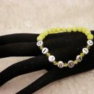 Customized Awareness Yellow Crystal Diabetic ALERTOr Personal Name Bead Bracelet