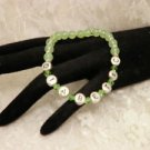 Customized Jade Green Diabetic Alert Awareness Beaded Bracelet Or Your Name