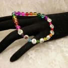 Customized Diabetic Alert Awareness Colorful Clear Beaded Or Personal Name