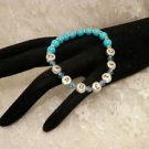 Customized Turquise Blue DiabeticAwarenes Alert Beaded Bracelet Or Personal Name